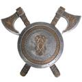 "PT13996 - 21"" Viking Axe Shield Plaque"