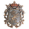 "PT13903 - 14"" long Heraldic Lion Crest Shield"