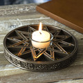 """PT14152 - 6"""" diameter Zodiac Signs Candle Holder"""