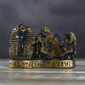 """PT14155 - 3.75"""" Bronze-finish King Tut Card Holder"""