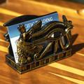 """PT14156 - 3.75"""" Bronze-finish Eye of Horus Card Holder"""