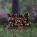 """PT14157 - 3.75"""" Bronze-finish Mother Maiden Crone Card Holder"""