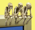 "PT06499 - 3.75"" See, Hear, Speak No Evil Grim Reapers Shelf Sitters set"