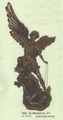 "PT07523 - 47.5"" Saint Michael with Lucifer in chains; bronze-finish; detachable wings"