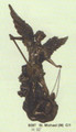 "PT08097 - 31.75"" Saint Michael with Lucifer in chains; bronze-finish"