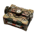 """PT08508 - 6.25"""" Steampunk Box with Compass"""