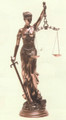 "PT08981 - 31.5"" Bronze-finished  Lady Justice"