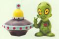 "PT08982 - 3"" Alien Saucer and Alien Salt and Pepper Shakers"