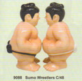 """PT09088 - 4.25"""" Sumo Wrestlers Salt and Pepper Shakers"""