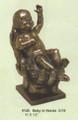 """PT09126 - 8.5"""" Baby in Hands; bronze-finish"""