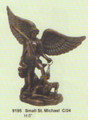 "PT09195 - 5"" Saint Michael with Lucifer in chains; bronze-finish"