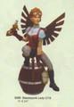 "PT09200 - 8.75""  Steampunk Lady on Barrel"
