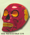 "PT09332 - 7.33"" long Red Day of the Dead Skull"