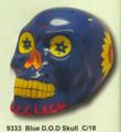 """PT09333 - 7.33"""" long Blue Day of the Dead Skull"""