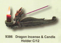"""PT09386 - 10"""" long Dragon Incense and Candle Holder"""
