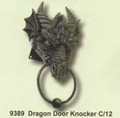 """PT09389 - 9.25"""" Dragon Door Knocker"""