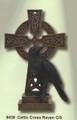 """PT09438 - 12"""" Celtic Cross Raven"""