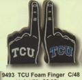 "PT09493 - 3.5"" TCU Foam Finger Collegiate Licensing Salt and Pepper Shaker Set"