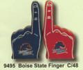 """PT09495 - 3.5"""" Boise State Finger Collegiate Licensing Salt and Pepper Shaker Set"""