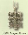 PTJ365 - Dragon Cross Necklace