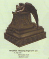"""PTWH26430 - 12.75"""" Weeping Angel Urn; bronze-finish (320 cubic inch bottom load)"""