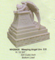 """PTWH26435 - 12.75"""" Weeping Angel Urn; marble-finish (320 cubic inch bottom load)"""