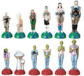 "YTC5648 - 3"" Chess Set Alien vs Human (No Board)"