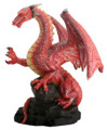 """YTC7779 - 4"""" Red Dragon on Rock"""