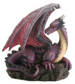 "YTC7780 - 3.5"" Purple Dragon on Rock"