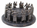 """PT08310 - 3.5"""" Round Table Knights (bronze-finished)"""
