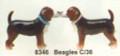 "PT08346 - 2.5"" Beagles Magnetic Salt and Pepper Shakers"