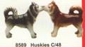 "PT08589 - 3.5"" Huskies Magnetic Salt and Pepper Shakers"