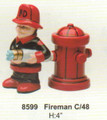 "PT08599 - 4"" Fireman Magnetic Salt and Pepper Shakers"