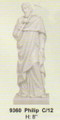 "PT09360 - 8"" Twelve Apostles - Saint Philip (faux-marble)"