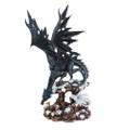 "PT10009 - 18.5"" Black Dragon Protecting Young"