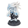 "PT10011 - 9"" White Dragon on Celtic Pedestal Cone Incense Holder"