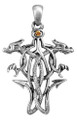 """DD2937 - Celtic Dragon Pendant; Lead-free pewter; W: 1.265"""" X L: 1.950""""; weight 0.70 pounds."""