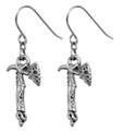 "DD2942 - Fire Dragon Axe Earrings (Pair); W: 0.410"" X L: 0.851""; weight 0.20 pounds."