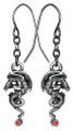 """DD2945 - Dragon Igneel Earrings (pair); Lead-free Pewter; W: 0.388"""" X L: 0.860""""; weight 0.20 pounds."""