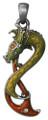 "DD2947 - Dragon Kilgarrah Pendant; Lead-free Pewter; W: 0.725"" X L: 1.69""; weight 0.70 pounds."