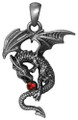 """DD2948 - Dragon Aithusa Pendant; Lead-free Pewter; W: 1.124"""" X L: 1.432""""; weight 0.60 pounds."""