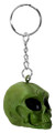 """YTC8402 - 1.25"""" Green Alien Skull Key Chain (Pack of 12)"""