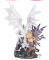 """GSC91824 - 23.25"""" Large Fairy with White Dragon"""