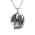 "PT10026 - 1.5"" Dragon Shield Necklace"