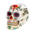 """PT10086 - 6"""" Day of the Dead Skull (White)"""