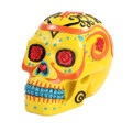 """PT10087 - 6"""" Day of the Dead Skull (Yellow)"""
