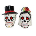 "PT10169 - 2.75"" Day of the Dead Wedding Skulls Salt and Pepper Shaker"