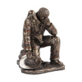 """PT09908 - 5.75"""" Bronze-finished Fire Fighter Reflecting"""