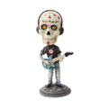 """PT10259 - 7"""" Day of the Dead Bobblehead Bass Player"""
