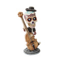 """PT10260 - 7"""" Day of the Dead Bobblehead Bass Player"""